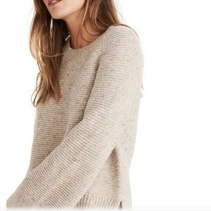 🌾MADEWELL FLECKED WIDE-SLEEVE PULLOVER SWEATER